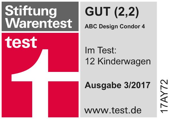 Stiftung Warentest Qualitätsurteil GUT (2,2) für den Condor 4